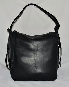 Noir Hybride Convertible Sac Article Hobo Dkny Cuir Pochette Souple Neuf pqwOaZz