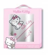 Hello Kitty Geschenkbox Badeponcho Waschhandschuh Badetuch Poncho