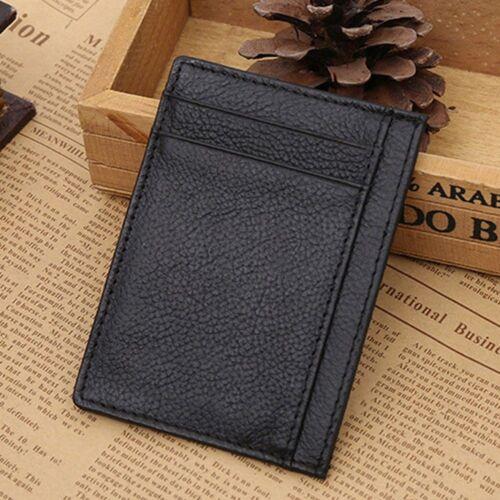 New Men Fashion Holder Men/'s Coin Cash Money Clip Leather Card Bag Wallet