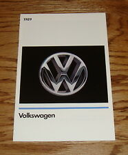 Original 1989 Volkswagen VW Full Line Sales Brochure 89 Jetta GTI Cabriolet