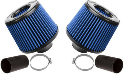 Burger Tuning BMS N54 DUAL CONE INTAKE W// BLUE FILTERS For N54 BMW 135 335 535 Z