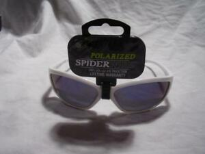 ef82c295a8 Image is loading 3-Spiderwire-Polarized-Sport-Fishing-Sunglasses -Glass-white-
