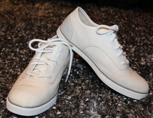 $100 UGG Sneakers Hally White Canvas Sheepskin Sho
