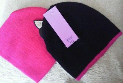 2 Giurl's Cappelli A Maglia. Taglia Unica, Nuovo Con Etichetta-mostra Il Titolo Originale