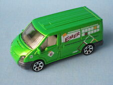 Matchbox Ford Transit Van Emer Packaging Green Delivery 75mm Long