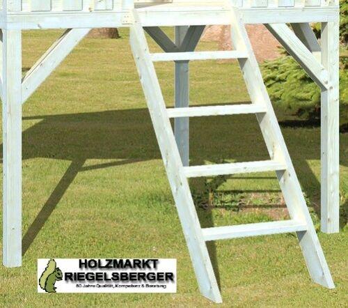 Leiter für alle Spielhäuser 146x55x12 cm Holztreppe für Podesthöhe 120 cm