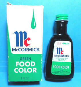 Vintage McCormick Green Food Coloring Baltimore Maryland | eBay
