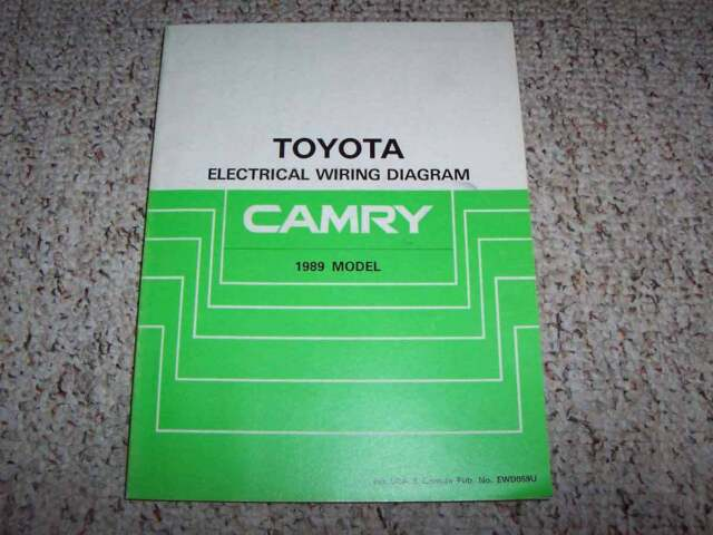 1989 Toyota Camry Electrical Wiring Diagram Manual Std Dx