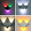 3W-Triangle-LED-Wall-Sconces-Light-Fixture-Bedroom-Hotel-Canteen-DIY-Wall-Lamp thumbnail 1