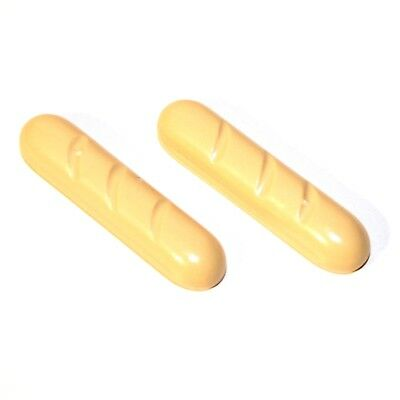 2x LEGO® Brot Baguette 4342 NEU Beige Tan Figuren Zubehör