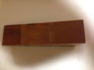 Wooden Door Stop Wedge Made Of Brazil Mahogany And Cherry Felt On ...