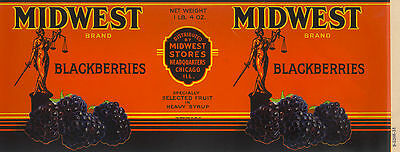 TIN CAN LABEL VINTAGE 1930S MIDWEST CHICAGO SCALES OF JUSTICE LEGAL LAWYER BERRY