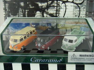 CARARAMA 1:72 VOLKSWAGEN VW T1 TRANSPORTER BLUE W// ACRYLIC CASE