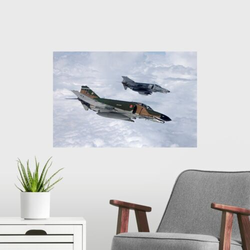 Airplane Home Decor Two QF-4Es fly over the Gulf of Mexico Poster Art Print