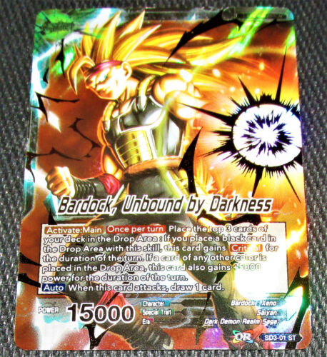 Unbound by Darkness SD3-01 ST Dragon Ball Super TCG NEAR MINT Bardock