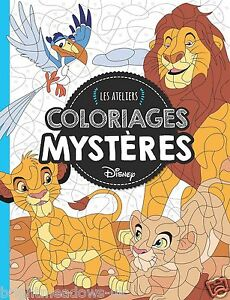 Disney Puzzle Hidden Images Animals Adult Colouring Book French The ...