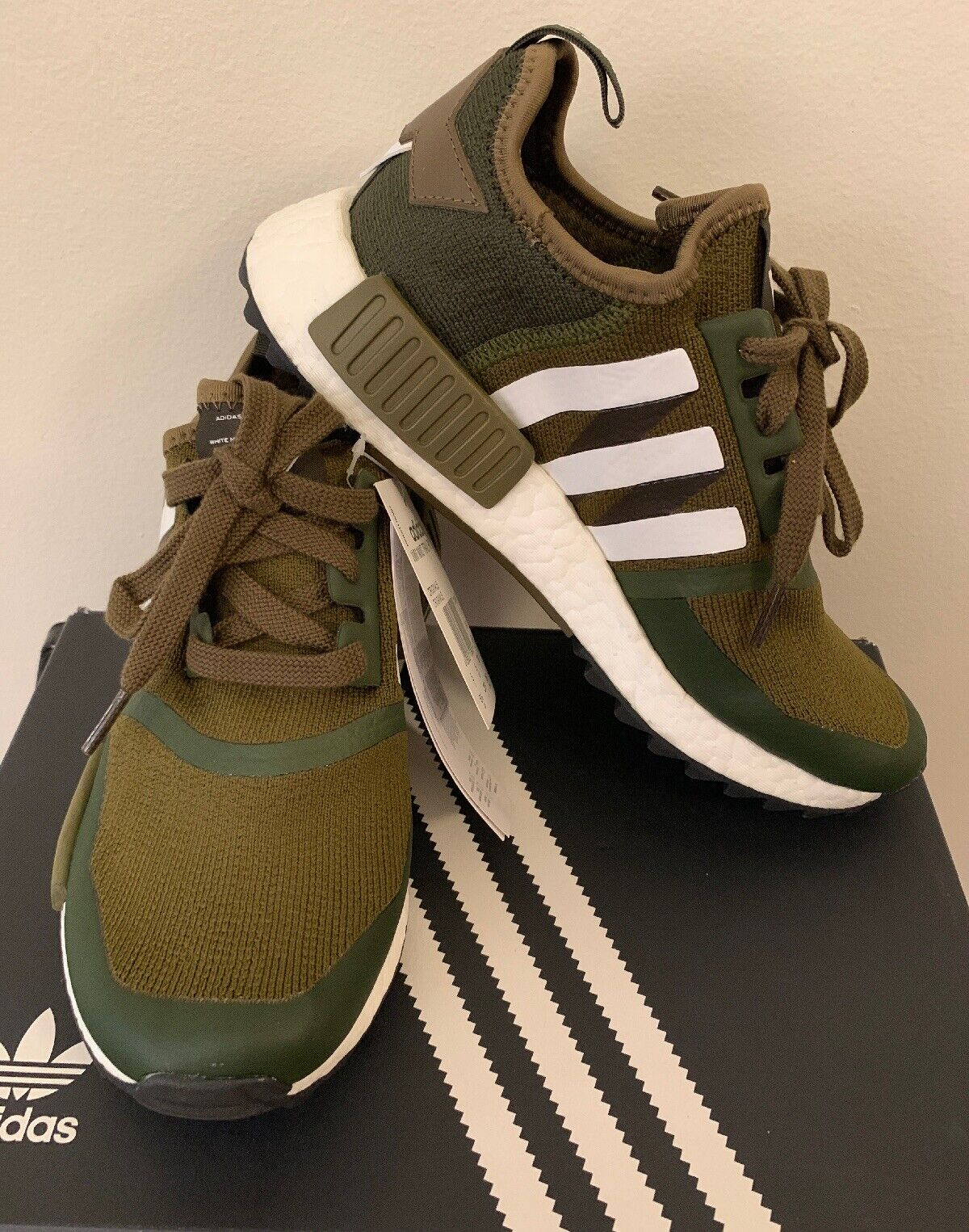 6aaec39751564 Men s Size 5.5 Adidas NMD NMD NMD Trail PK White Mountaineering Women s 6.5  CG3647 ec52f0