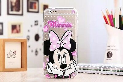 New Ultra Thin Disney Crystal Clear TPU Soft Case Cover for iPhone 6 Plus 5 5S