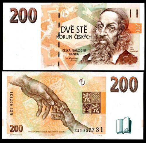 CZECH REPUBLIC 200 KORUN 1998 P 19 UNC