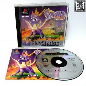 Spyro-The-Dragon-Sony-Playstation-ps1-Platinum-PAL-Disc-ausgezeichnete-keine-Anleitung