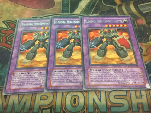 X3! Rare Yu-Gi-Oh Elemental HERO Rampart Blaster DP1-EN012