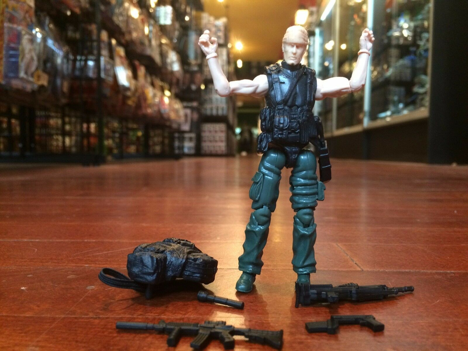 Unpainted Predotype Test Shot GI Joe Pursuit of Cobra POC Jungle Duke Figure
