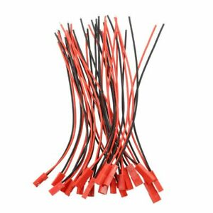 10-Pares-22AWG-150mm-Cable-w-2Pin-JST-M-F-Enchufe-para-RC-Bateria-Motor-Con-Y3Q7