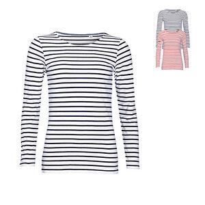 71b6392390be13 Sols Damen T-Shirt LONG SLEEVE STRIPED T-SHIRT MARINE Langarm ...