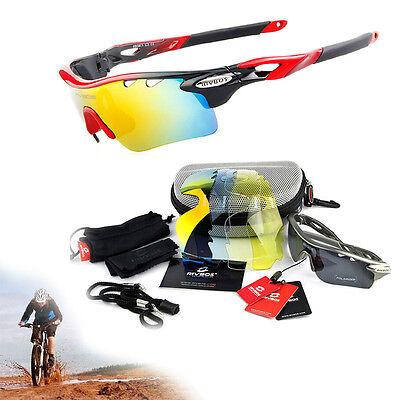 New Men Sports Goggles Outdoor Glasses Cycling Sunglasses 5 Lens UV400