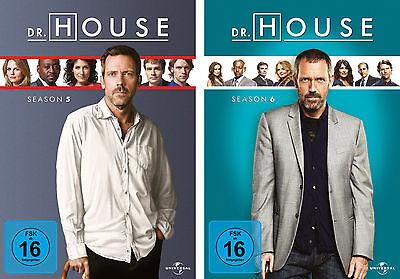 12 DVDs  *  DR. HOUSE  -  STAFFEL / SEASON  5 + 6 IM SET # NEU OVP +