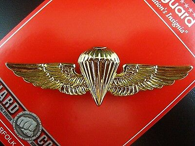ORIGINAL US NAVY MARINE CORPS SEALS AIRBORNE PARATROOPER WINGS BADGE MEDAL