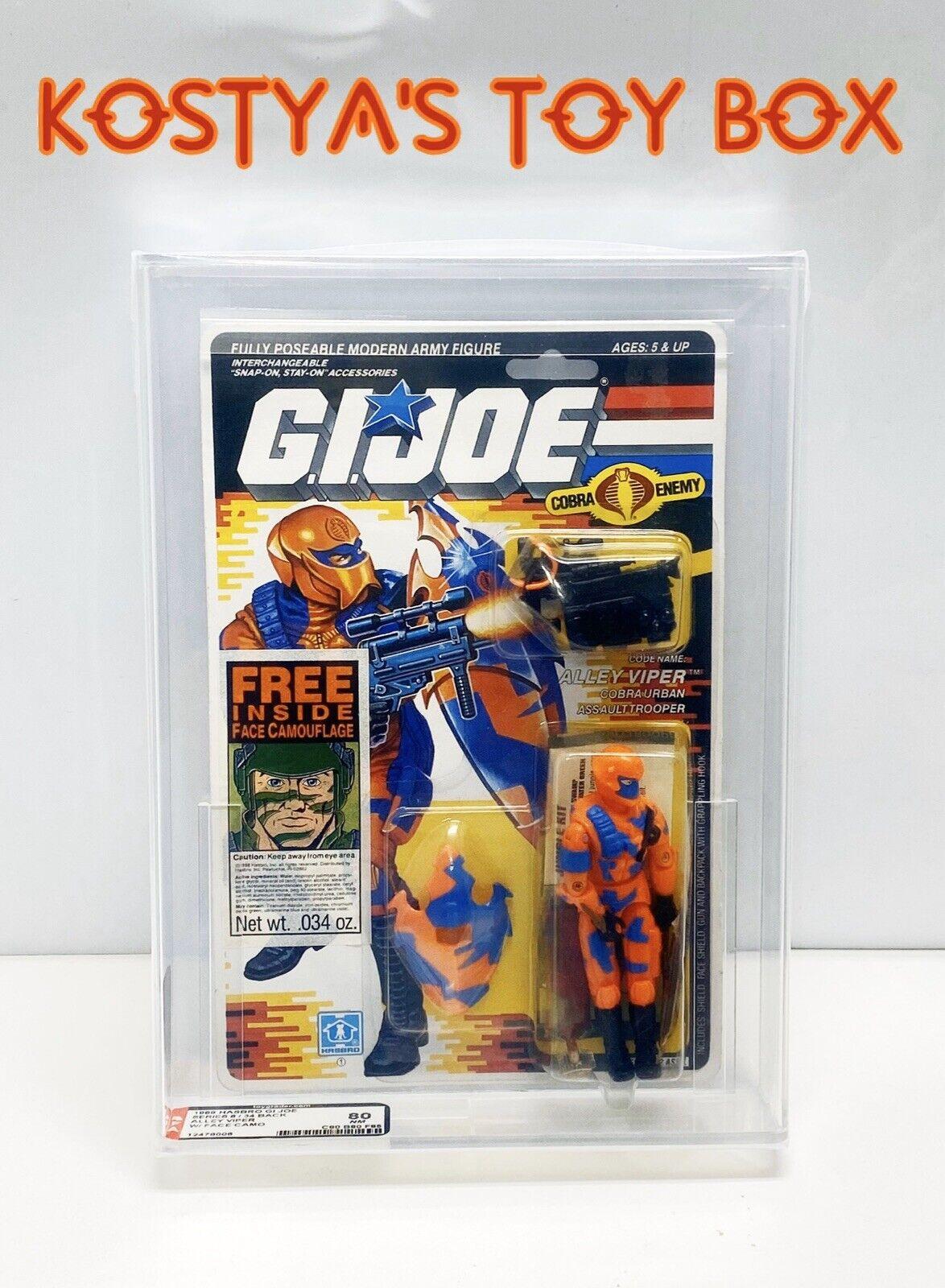 GI Joe Cobra ALLEY-VIPER 1989 MOC AFA Hasbro Vintage AFA Graded 80 Action Figure