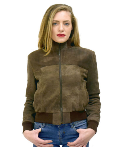 check out 7ec85 51b04 Vietri Vintage Bomber Leather Marrone Vera Nabuk Da Pelle ...