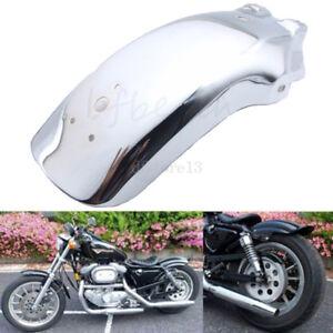 Moto-Garde-boue-arriere-Chrome-Pour-Harley-Honda-Yamaha-Suzuki-Chopper-Cruiser