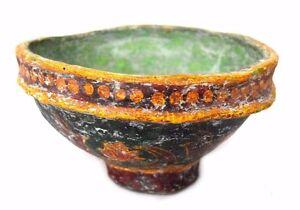Indian Vintge Beautiful Handmade Decorative Paper Mache Multipurpose Pot. G72-13