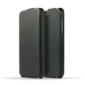 NOVADA-iPhone-SE-5S-5-Genuine-Leather-Flip-Case-Cover-Black-Duke-Collection