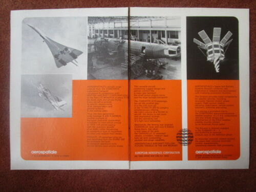 11//1971 PUB 4 PAGES AEROSPATIALE PUMA NEW-YORK TWIN TOWERS EXOCET RALLYE AIRBUS