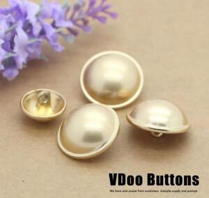 5PCS-Quality-Gold-Metal-Mushroom-Shank-Buttons-Craft-DIY-Suit-Shirt-15-21-MM