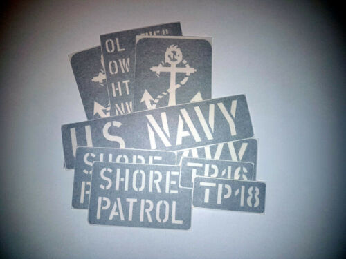 HARLEY WLA SHORE PATROL HD USN US NAVY Stencils Scripts Inscription