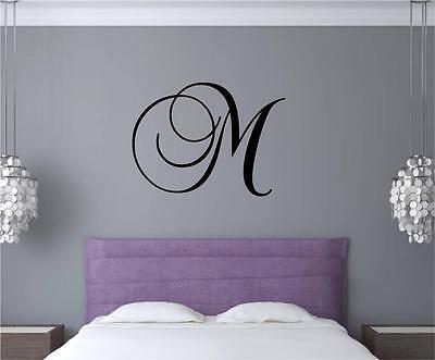 Custom Monogram Letter Vinyl Decal Wall Art Stickers Words Dorm Room Decor