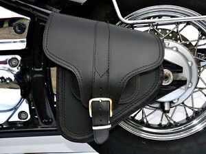 B4) Leather Swingarm Single Side Pannier Saddle Bag Harley-Davidson ... 5b94235d4cd79