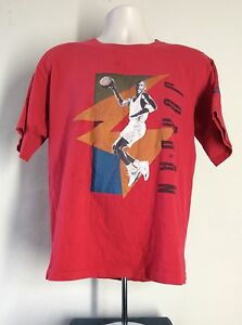 d8c7bf19541f Vtg Early 90s Nike Gray Tag Michael Air Jordan T-Shirt Red S M ...