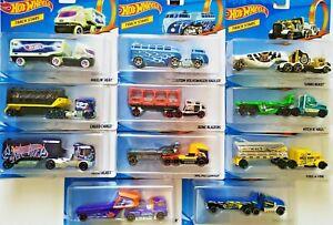 HOT-WHEELS-PISTA-Camion-Stelle-Diecast-Scala-1-64-Haulers-Molti-per-scegliere-Camion