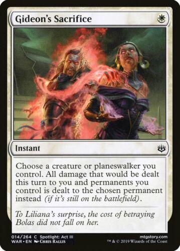 MTG Magic Card 4 x Gideon/'s Sacrifice WAR Common Playset #14 Mint