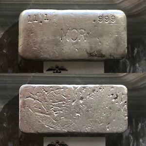Mcr 11 1 Oz 999 Poured Silver Bar Ebay