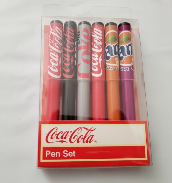 NEW Coca Cola 6 Pen Set Coca Cola Coke Cherry Coke Zero Diet Fanta
