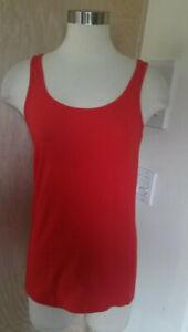 Ariat-NWT-Women-039-s-Sleeveless-Red-Knit-Tank-Top-Size-Medium