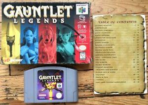 GAUNTLET LEGENDS COMPLET BOÎTE NOTICE NINTENDO 64 N64 NTSC US USA CIB OVP GAME