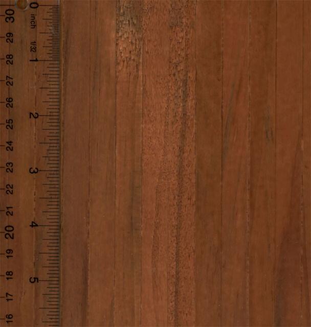 Dollhouse Miniature 1 12 Dark Real Wood Flooring Sheet Self Stick Ebay