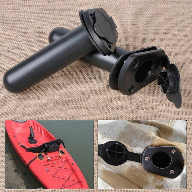 Set of 2 Kayak Canoe Rod Holder Flush Mount Fishing Rod Holders with Screws